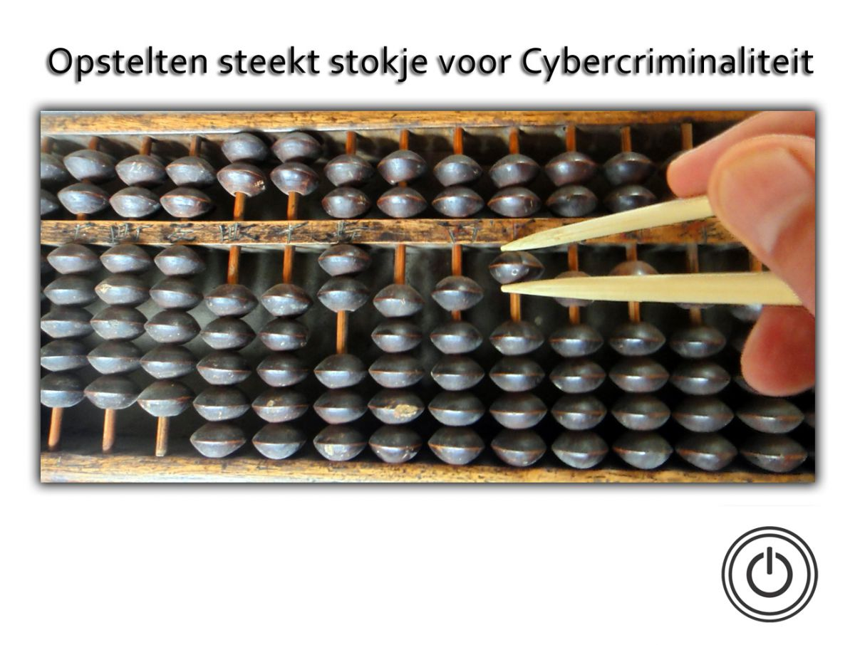 Opstelten steekt een stokje voor cybercriminaliteit