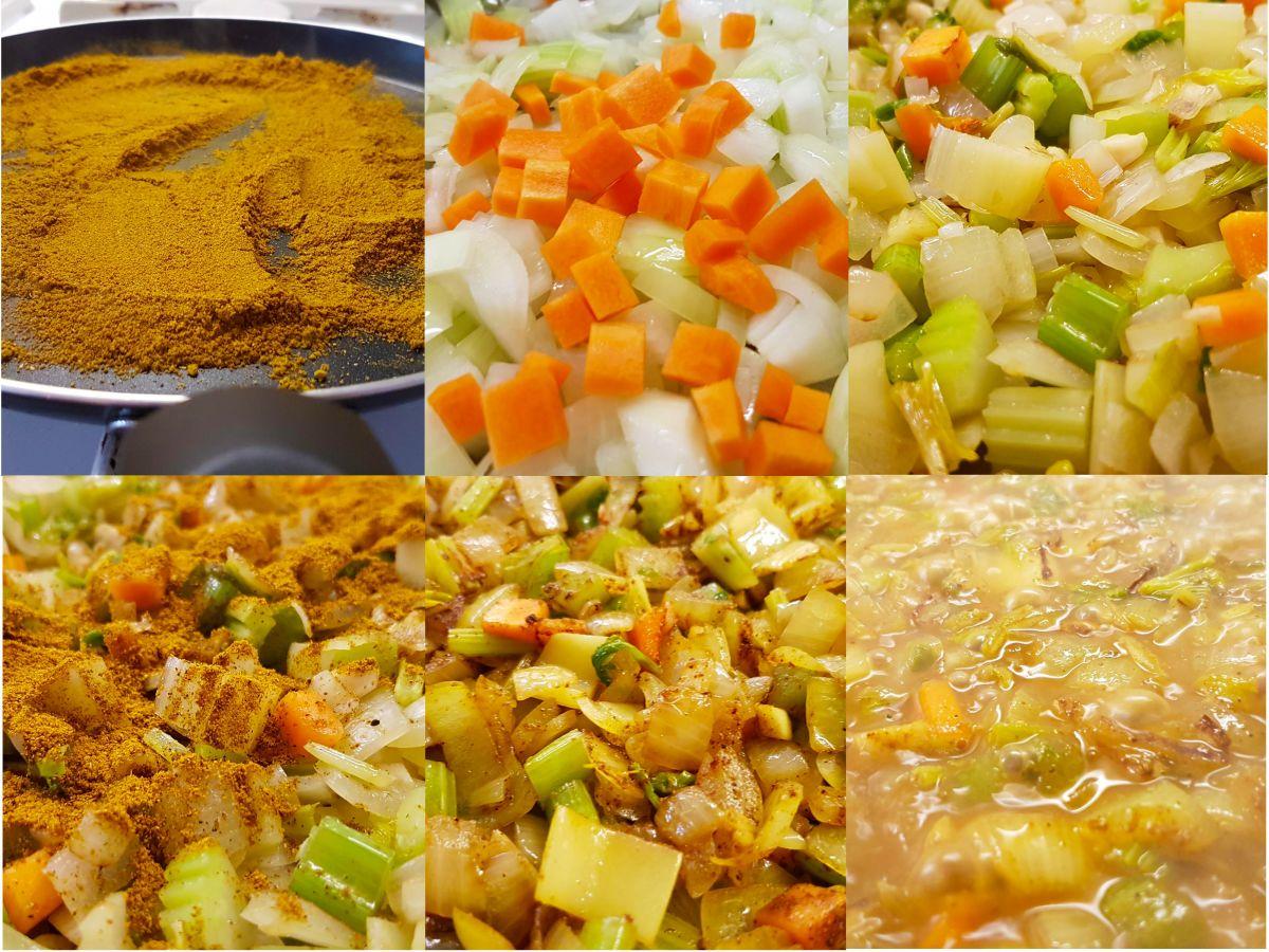 ui, selderij, wortel en knoflook
